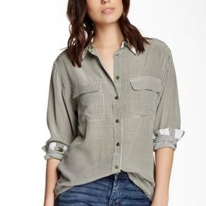 Equipment Femme Signature Silk Shirt Gingham XS